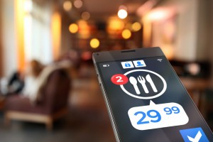 cuenta mesa en smartphone