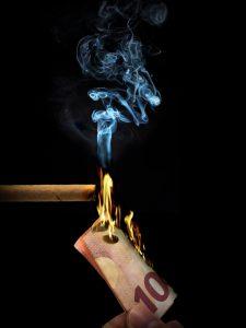 Burn cigar