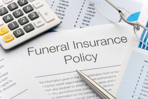 Close up of approved Funeral Insurance policy