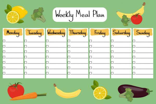 calendario de comidas